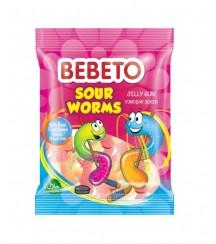 Bebeto Sour Worms 80G
